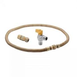 Kit de Instalação de Gás GN/ GLP para Fogão / Cooktop e Forno de Embutir Com Registro Gás